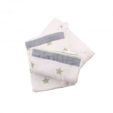 Minene Innovative Bed Sheet Set Green stars
