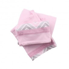 Minene Innovative Bed Sheet Set zig zag pink