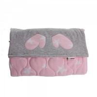 Minene Cosy foot muff Pink&grey