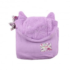 Minene Hooded Cuddly Towel Purple