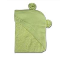Minene Хавлиена кърпа с качулка зелено мече