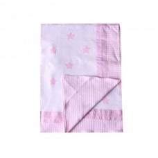 Minene Summer Blanket 85x115 cm pink stars