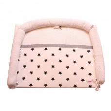 Minene Luxury Padded Changing Mat Pink stars