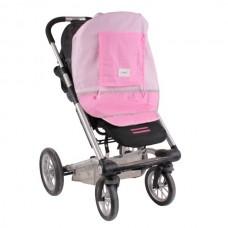 Minene Сенник за детска количка памук розов
