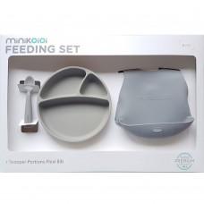Minikoioi Baby Feeding Set, grey