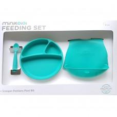 Minikoioi Baby Feeding Set, green