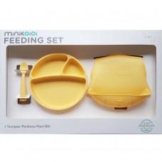 Minikoioi Baby Feeding Set, yellow
