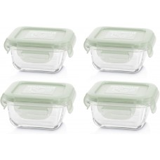 Miniland Set of Square Glass Containers