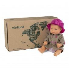 Miniland Кукла 32 см с розова шапка