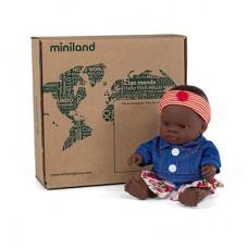 Miniland Кукла 21 см с рокля и дънково яке