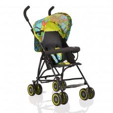Moni Детска лятна количка Billy зелени пеперуди