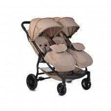 Moni Комбинирана детска количка за близнаци Rome, бежова