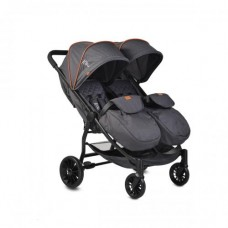 Moni Baby stroller for twins Rome, black