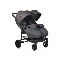 Moni Комбинирана детска количка за близнаци Rome, черна