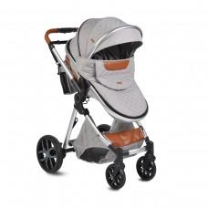 Moni Baby Stroller Alma, light grey