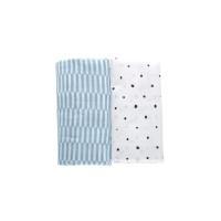 Motherhood Premium Cotton Muslin Wraps 100x120cm Blue