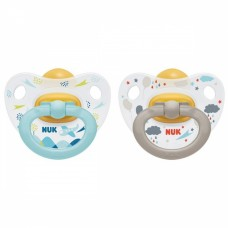 Nuk Happy Kids Latex Soother 2 pieces Size 1 (0-6m) + box