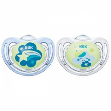 NUK Freestyle Nights Luminous Silicone Soothers 6-18 m 2 pcs