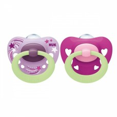 NUK Signature Night Silicone Soother 0-6 m with sterilizing box 2 pieces