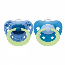 NUK Signature Night Silicone Soother 6-18 m with sterilizing box 2 pieces