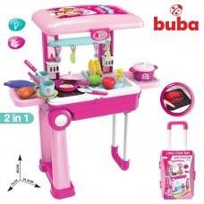 Buba Kids Kitchen Pink in suitcase