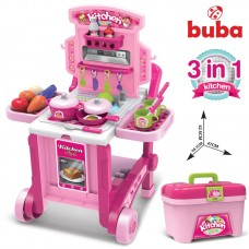 Buba Kids Kitchen little Chef Pink in suitcase