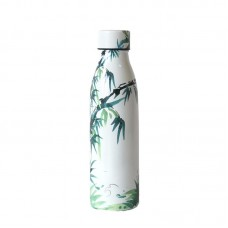 One Green Bottle Thermal Stainless Steel Bottle 500 ml Bamboo