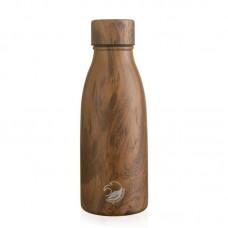 One Green Bottle Термо бутилка от неръждаема стомана 350 мл тиково дърво