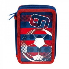 PASO School pencil case with two zippers Football