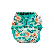 Close Parent Single Printed Reusable Popper Nappy +bamboo Red Panda