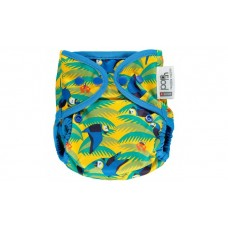 Close Parent Single Printed Reusable Popper Nappy +bamboo Parrot