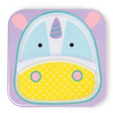 Skip * Hop Детска двойна чинийка Zoo Еднорог