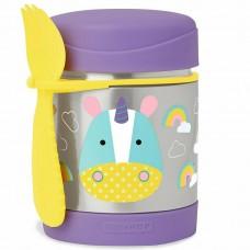 Skip * Hop Zoo Insulated Little Kid Food Jar, Unicorn