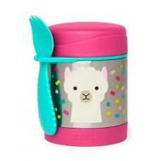 Skip * Hop Zoo Insulated Little Kid Food Jar, Lama