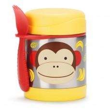 Skip * Hop Zoo Insulated Little Kid Food Jar, Monkey