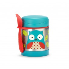 Skip * Hop Zoo Insulated Little Kid Food Jar, Owl