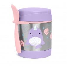 Skip * Hop Zoo Insulated Little Kid Food Jar, Narwhal