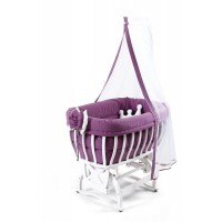 Tahterevalli Culle Wooden Crаdle purple
