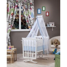 Tahterevalli Oscar Wooden Cradle white and blue