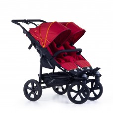 TFK Twin stroller Twin Trail 2 Tango red