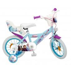 Toimsa Детски велосипед с помощни колела Frozen 2, 14 инча