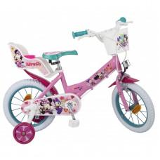 Toimsa Детски велосипед с помощни колела Minnie, 14 инча