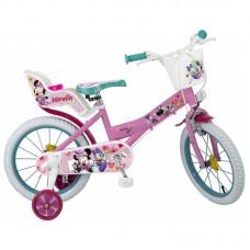 Toimsa Детски велосипед с помощни колела Minnie, 16 инча
