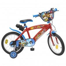 Toimsa Детски велосипед с помощни колела Paw Patrol Boy, 16 инча