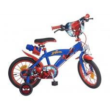 Toimsa Детски велосипед с помощни колела Spiderman, 14 инча