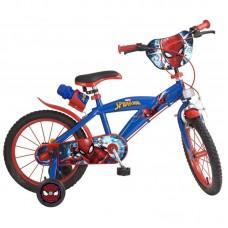 Toimsa Детски велосипед с помощни колела Spiderman, 16 инча