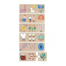 Vilac 6 Wooden Puzzles Numbers