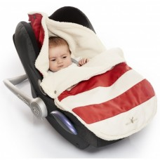 Wallaboo Nore Footmuff 0 - 12 months striped red