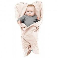 Wallaboo Одеяло за бебе с форма на цвете Крем