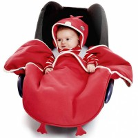 Wallaboo Baby blanket coco chicky red